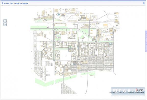 Карта города ГАЙ