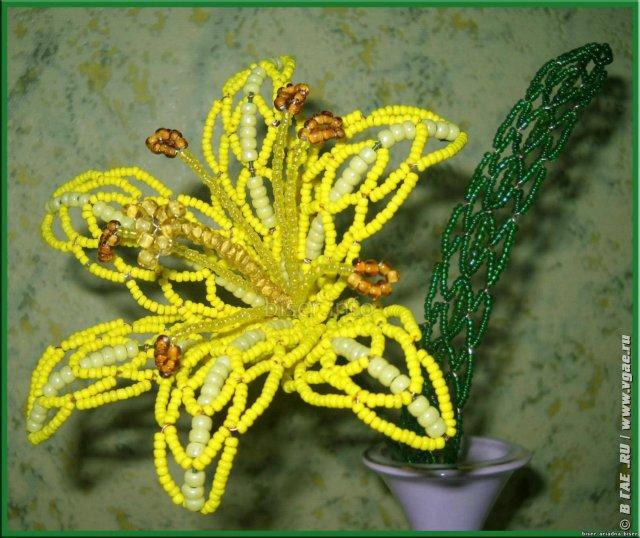Плетение проволокой из бисера