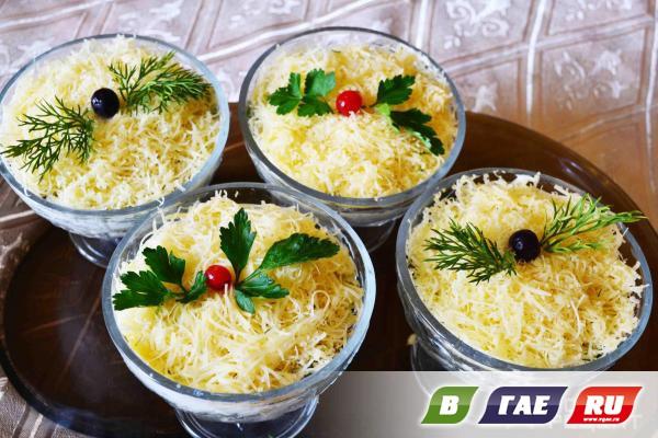 Рецепт и салатов в креманках с