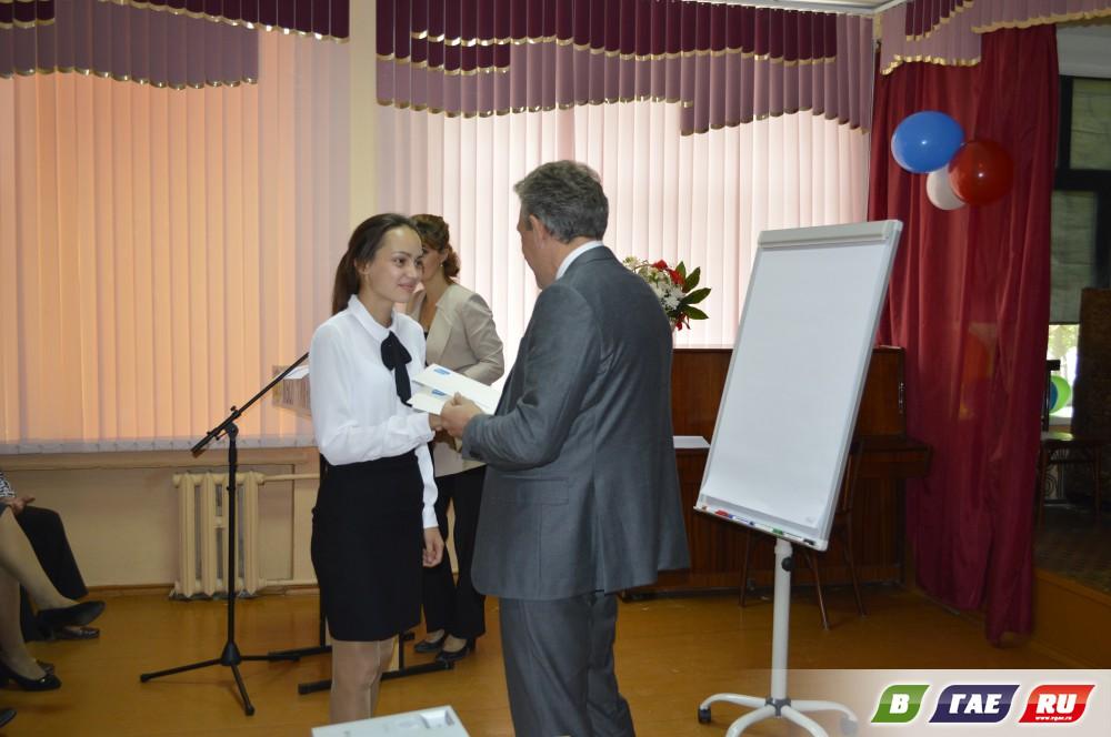 Глава Внешэкономбанка (родом из Гая)  посетил гимназию