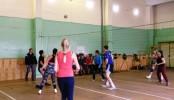 Представители суда играли в волейбол