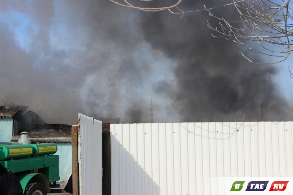 Пожар! Сгорела гайская ветлечебница
