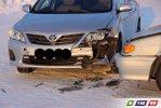 Два авто  разбили морды