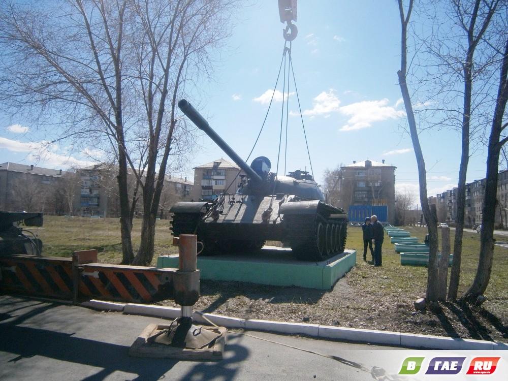Гайский танк поднялся на пьедестал