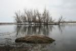 Река Урал в Вербное воскресенье