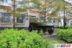 В Гае - бронеавтомобиль и зенитная установка