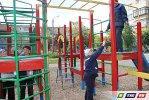 ДУ-2 покрасило игровую площадку в  цвета радуги