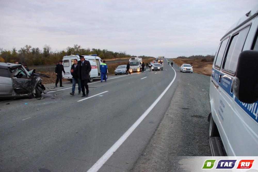 4 погибших на трассе Гай - Орск. Лобовое столкновение