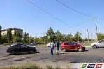 На пересечении пр.Победы - ул.Ленина столкнулись 2 иномарки, есть пострадавшие
