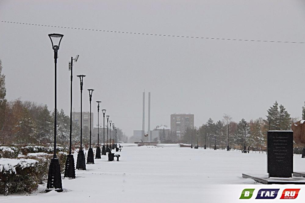 Снегопад в Гае. Не ждали?