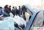 Останки Chevrolet Cruze - итог  лихой езды на Орской трассе