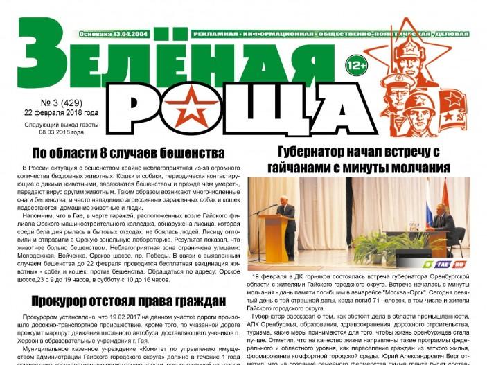 """Новый выпуск газеты """"Зеленая роща"""""""