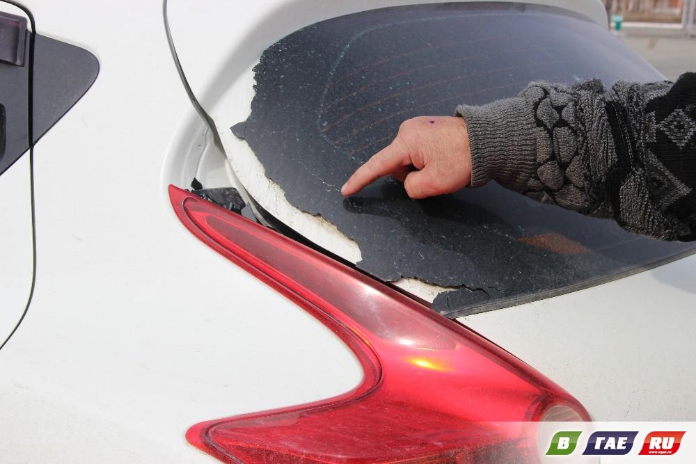 В Гае расстрелян автомобиль